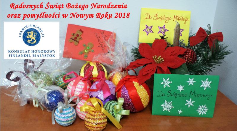 Życzenia świąteczno-noworoczne konsula